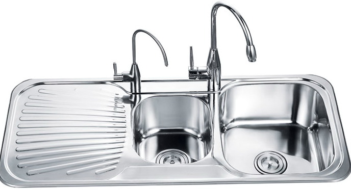 Stainless Steel Kitchen Sinks With Drainboard