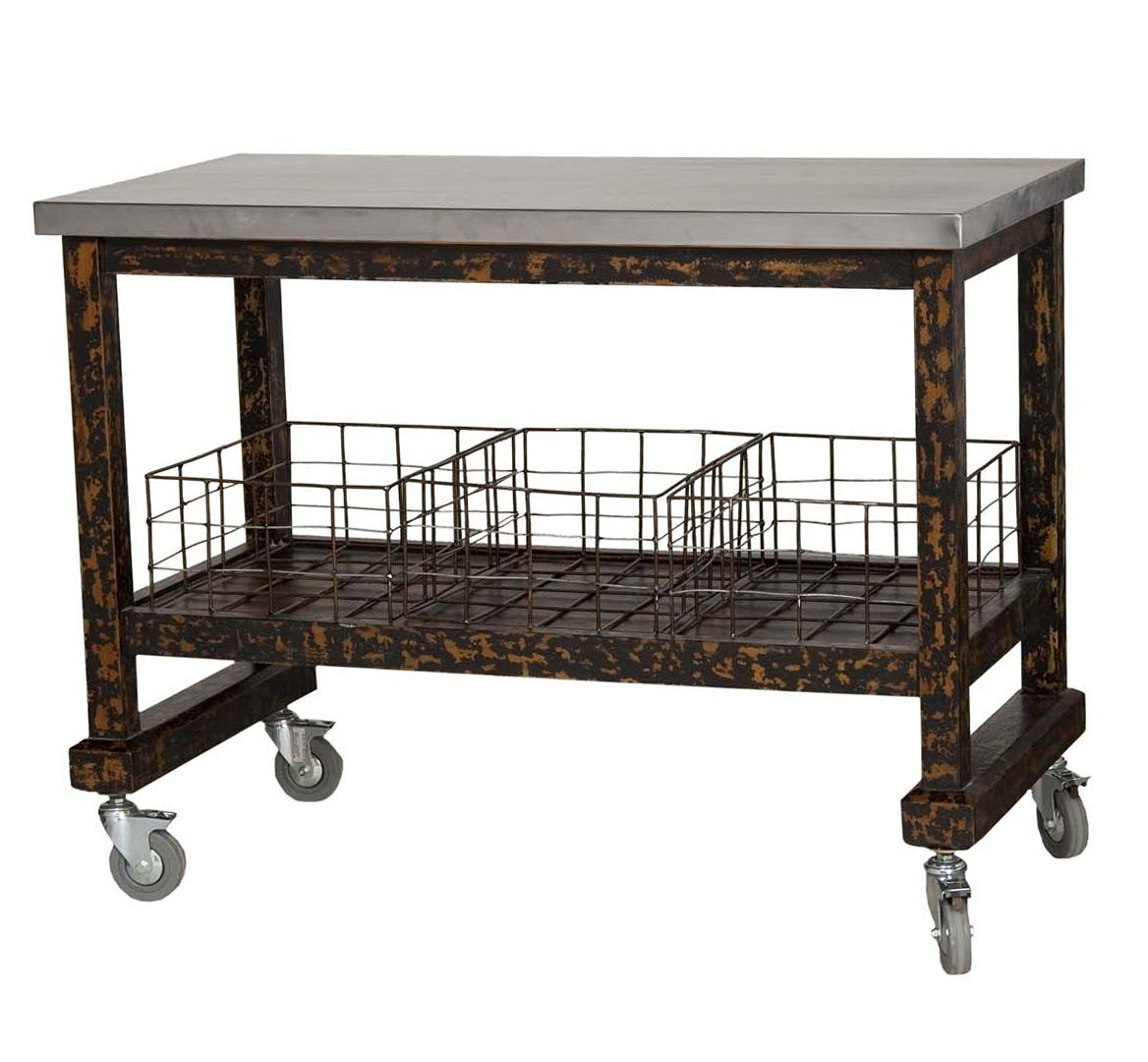 Stainless Steel Rolling Kitchen Island