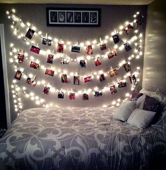 String Lights For Bedroom Wall