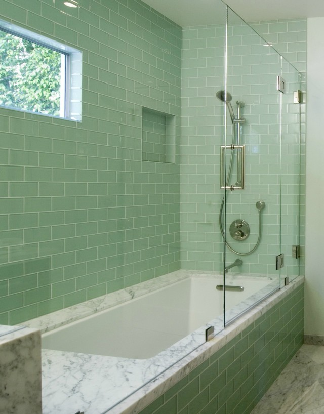 Subway Tile Bathroom Shower