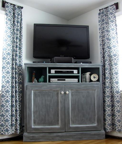 Tall Corner Media Cabinet