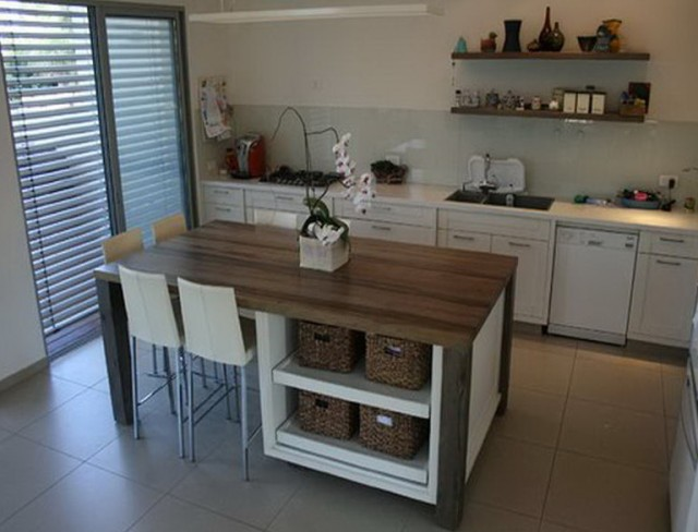 Tall Kitchen Table With Storage
