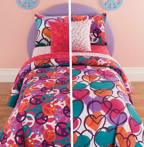 Target Peace Sign Bedding