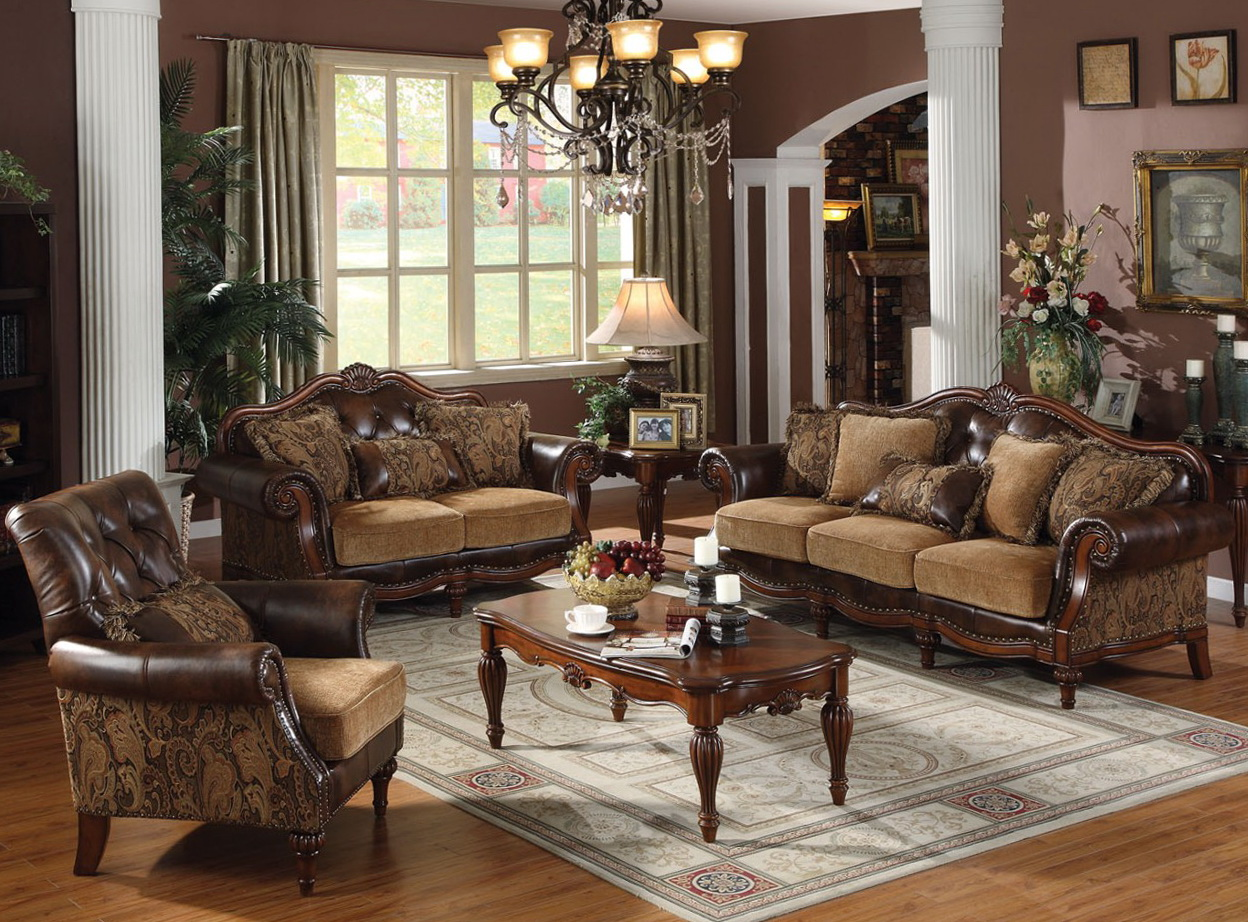 Traditional Leather Living Room Sets