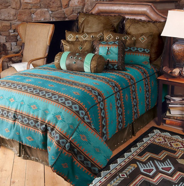 Turquoise Western Bedding Sets