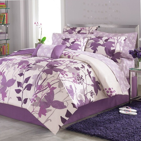 Twin Bed In A Bag Purple