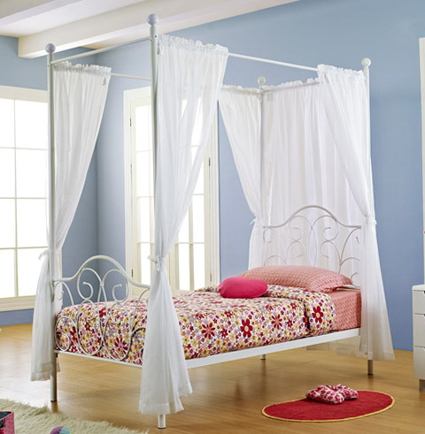 Twin Canopy Bed Curtains