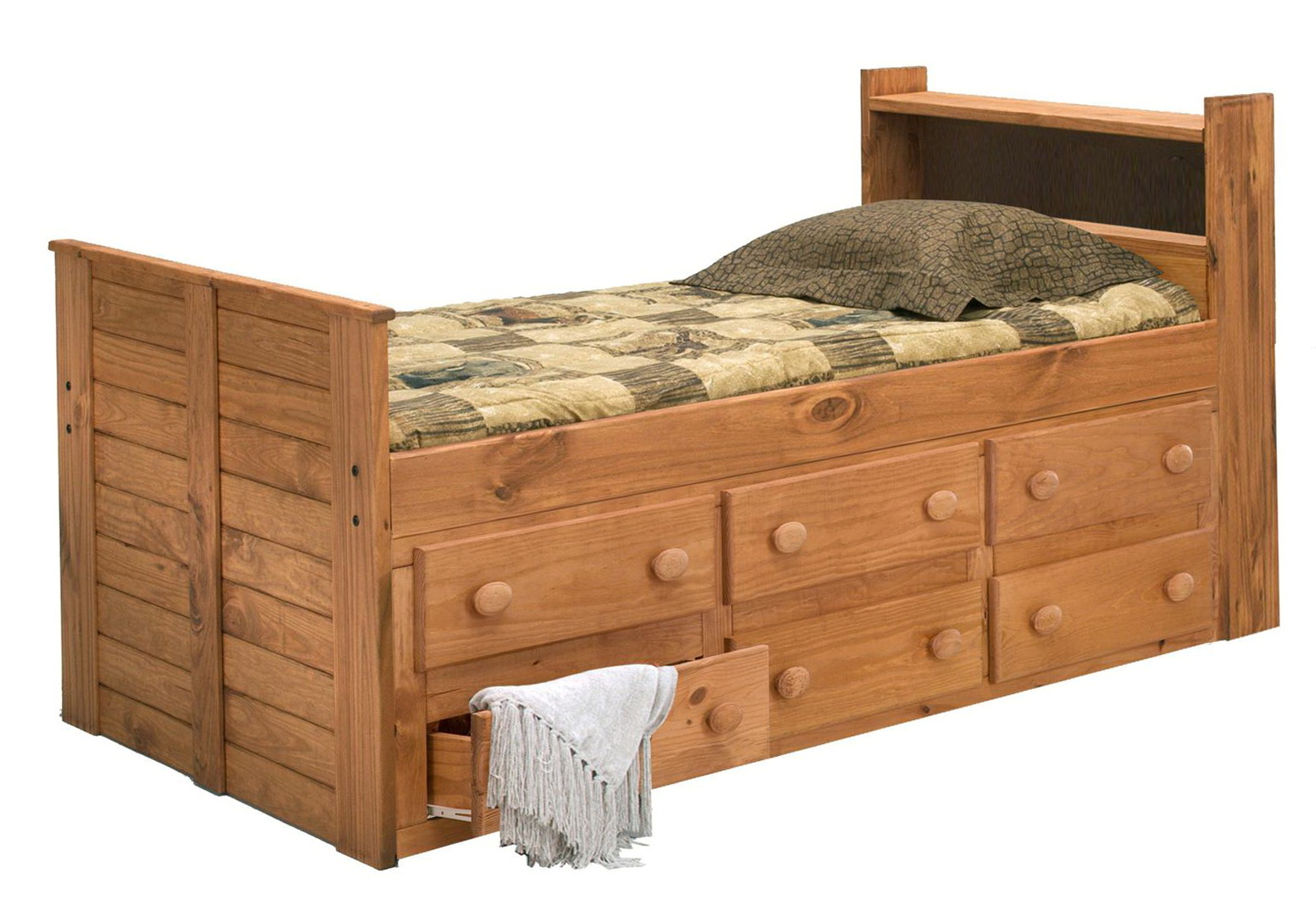 Twin Captains Bed With Drawers