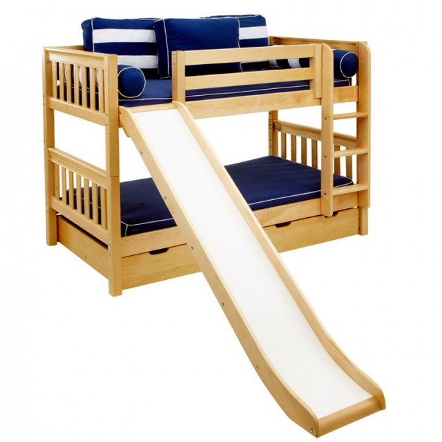 Twin Loft Bed With Slide