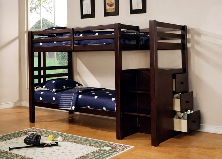 Twin Loft Bed With Storage Steps