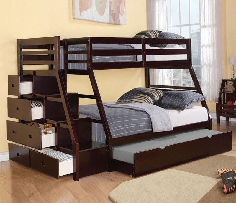 Twin Over Full Bunk Beds With Trundle