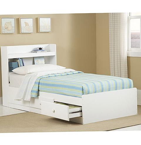Twin Storage Bed White