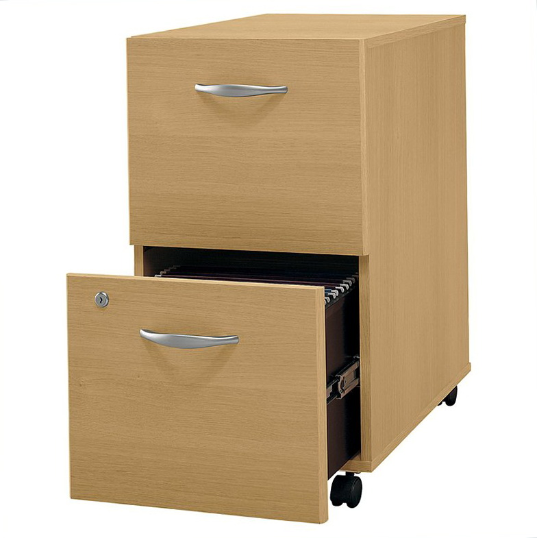 Two Drawer Wood File Cabinet