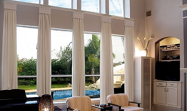 Two Story Living Room Window Treatments