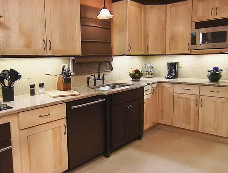 Two Tone Kitchen Cabinets Photo