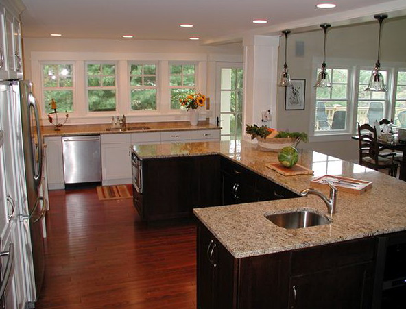 U Shaped Kitchen Island