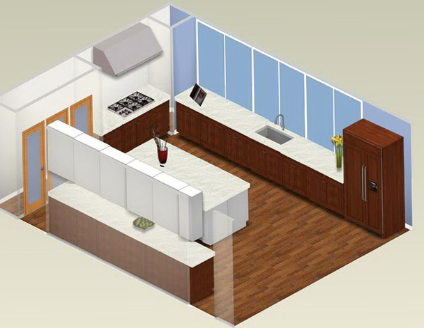 U Shaped Kitchen Plans