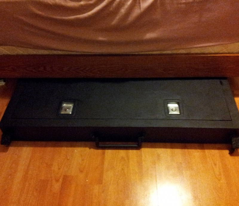Under Bed Gun Safe Fingerprint