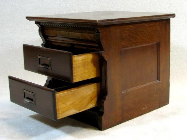 Vintage Wooden File Cabinets