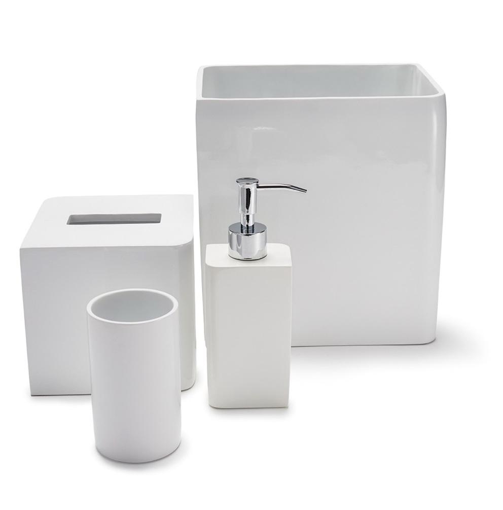 White Bathroom Accessories Sets