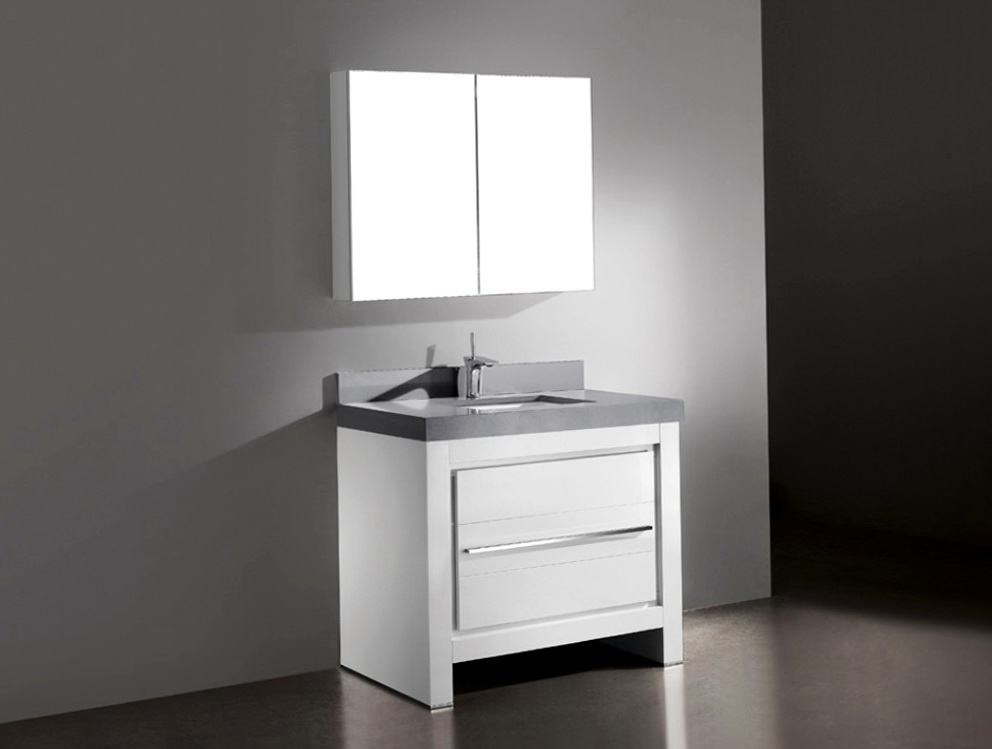 White Bathroom Vanities 36 Inch