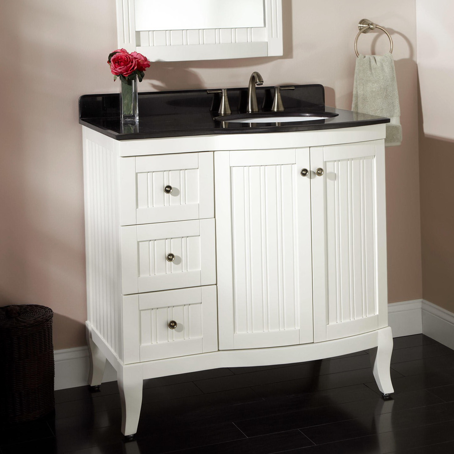 White Bathroom Vanity With Top