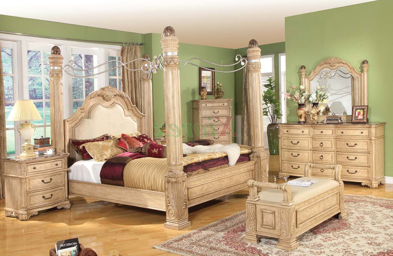 White Canopy Bedroom Sets