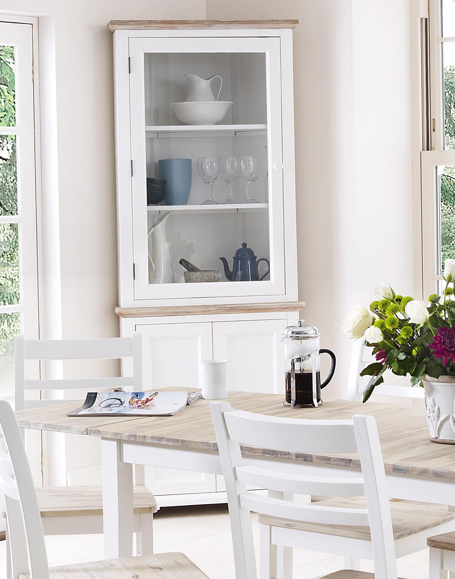 White Corner Bar Cabinet