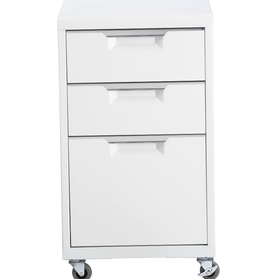 White File Cabinet On Wheels