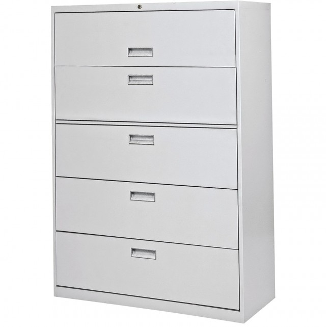 White Filing Cabinet With Lock