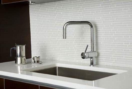 White Kitchen Backsplash Tiles