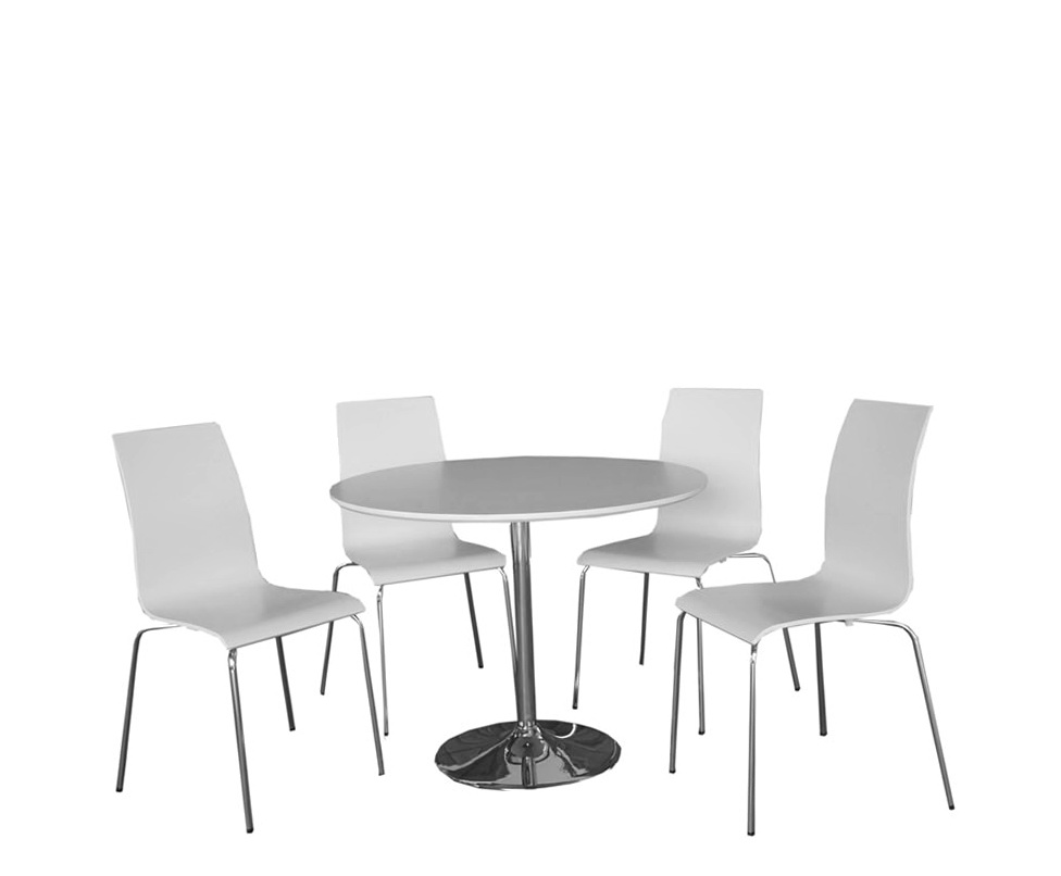 White Round Kitchen Table Sets