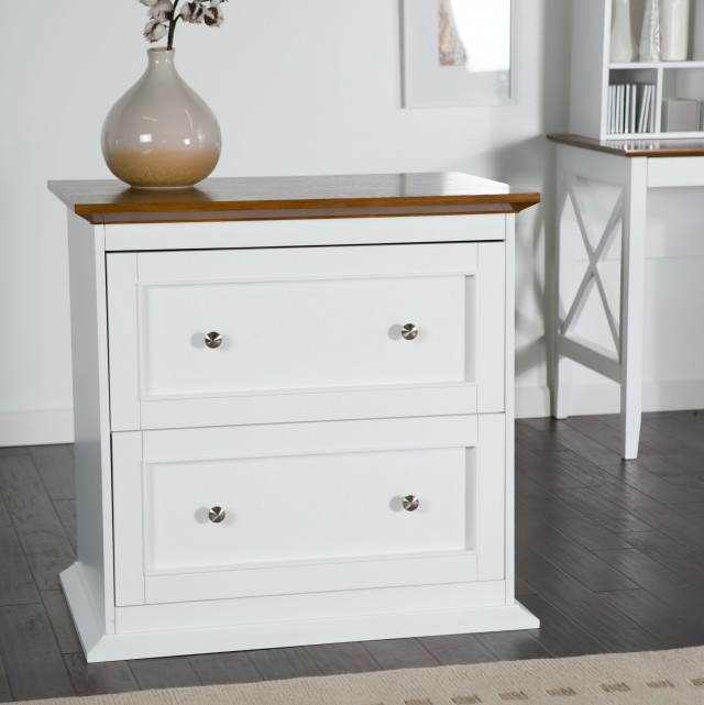 White Wooden File Cabinets