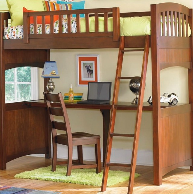 Wood Bunk Beds With Desk