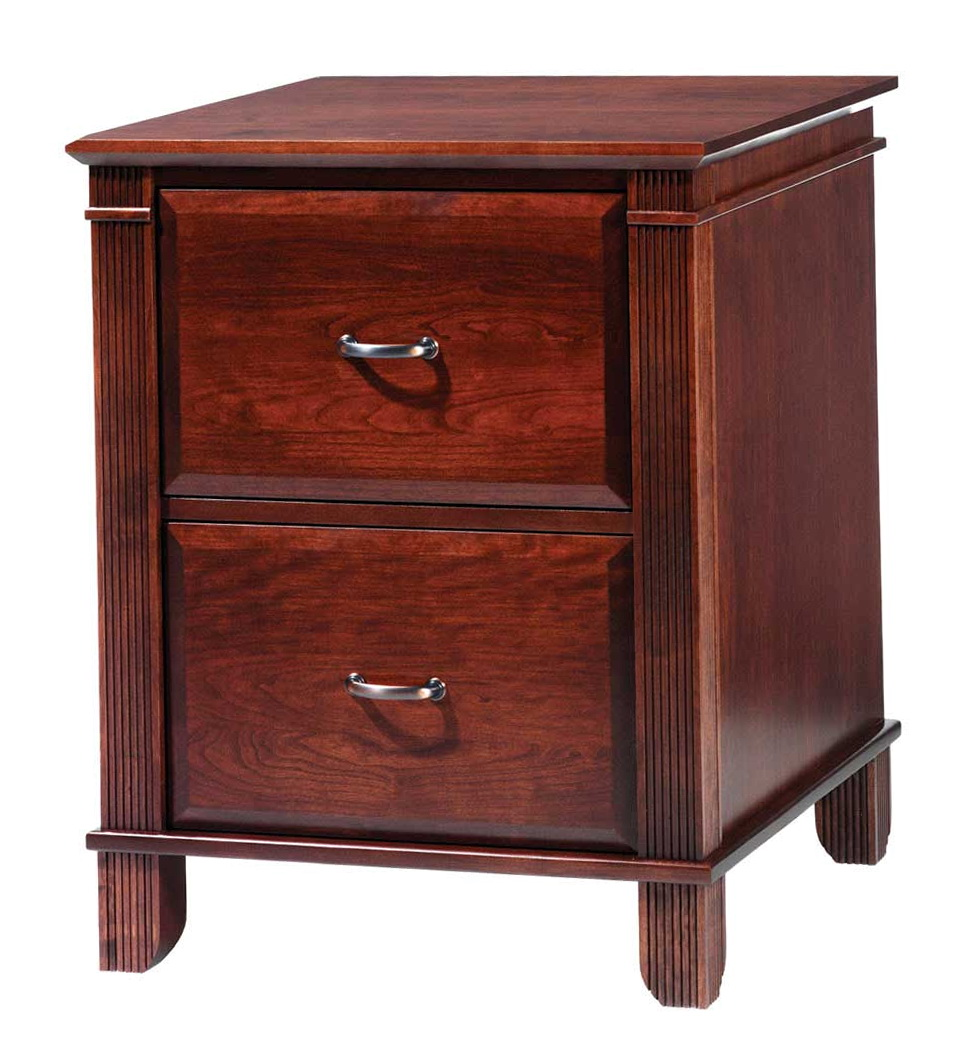 Wood File Cabinet 2 Drawer