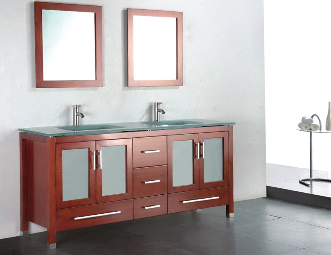 Wood Framed Bathroom Vanity Mirrors