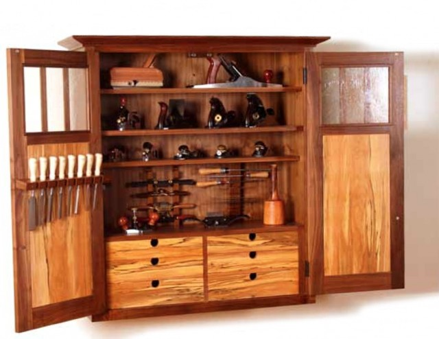 Wood Tool Storage Cabinets