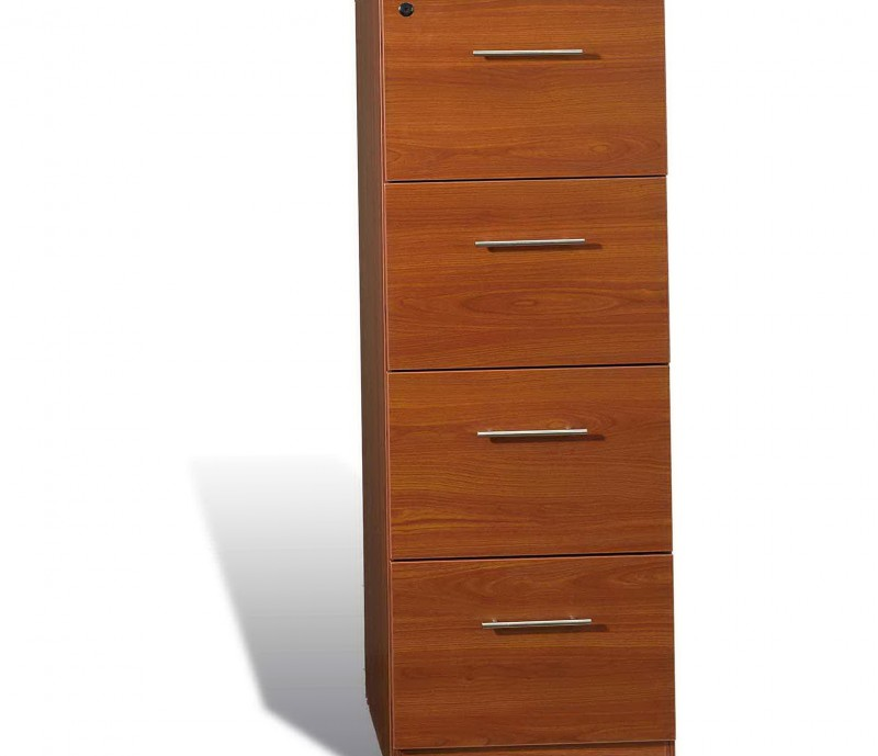 Wooden 4 Drawer File Cabinet