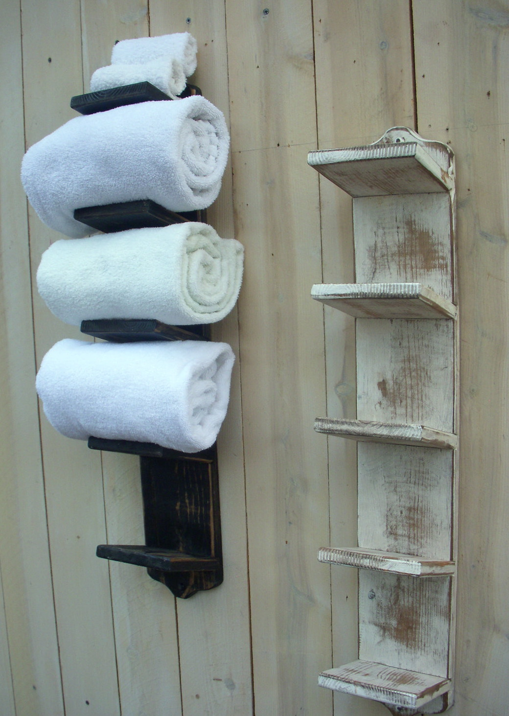 Wooden Bathroom Towel Racks
