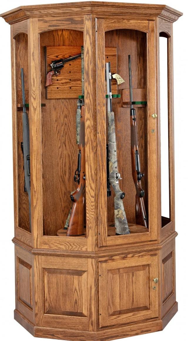 Wooden Gun Cabinet For Sale