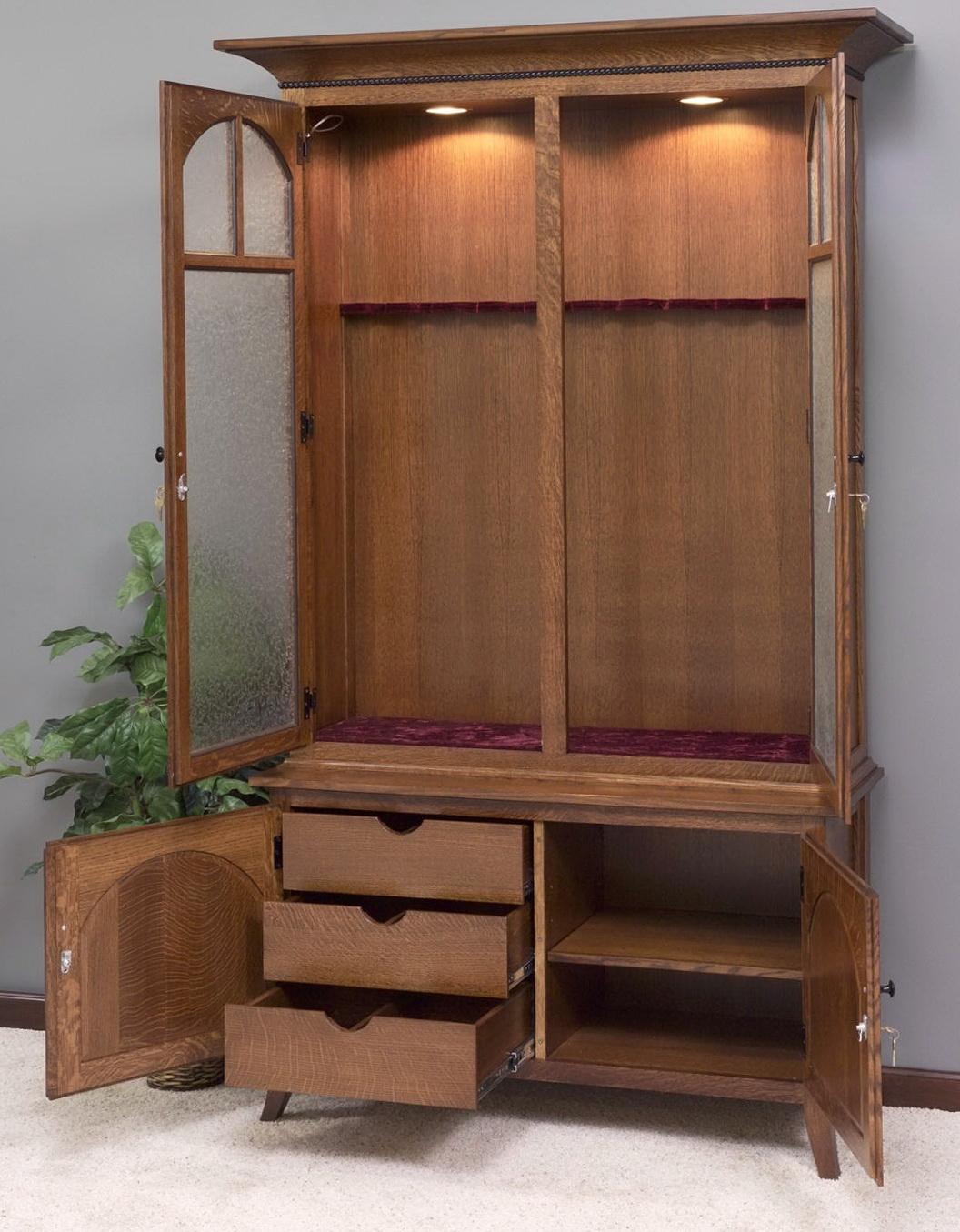 Wooden Gun Cabinet No Glass